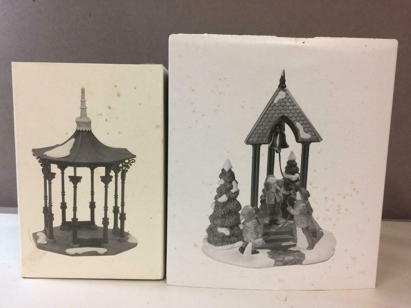 Primary image for Lot of 2 DEPT 56 Heritage,Town Square Gazebo & Christmas Bells Special Event