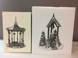Lot of 2 DEPT 56 Heritage,Town Square Gazebo & Christmas Bells Special E... - $61.37