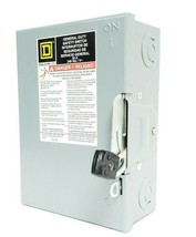 NEW SQUARE D DU231 SAFETY SWITCH SER. E2, 1/3PHASE 240VAC 60HZ 30AMPS