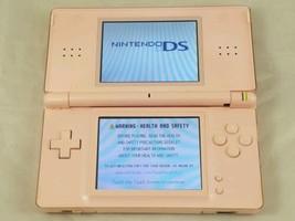 Nintendo DS Lite Coral Pink Handheld System USG-001 (AS-IS, PARTS, REPAIR) - $21.49