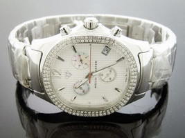 New aqua Master  Swiss movt watch quartz 1.5ct diamonds stainless steel - $688.05