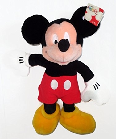 Disney Store Mickey Mouse Red Shorts Plush 15""