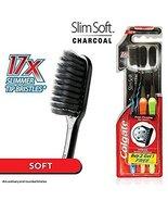 Colgate Slim Soft Charcoal Toothbrush (Pack of 3) 17x Slimmer Soft Tip B... - $5.00