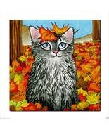 Tile Coaster Cat 441  from original Art Unique Design - $13.99