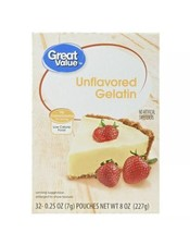 UNFLAVORED GELATIN - Great Value 32 pouches Compatible To Knox - $19.99