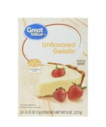 UNFLAVORED GELATIN - Great Value 32 pouches Compatible To Knox - $12.99