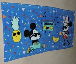 """2019 Disney's Mickey Mouse & Minnie Mouse """"90 Years Of Magic"""" Beach Towel - $18.00"""