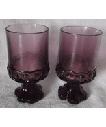 Franciscan Tiffin Madeira Goblets Plum Purple Glass Pedestal Water Wine ... - $29.98