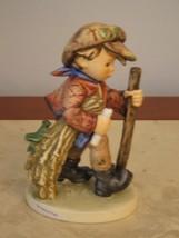 "W German Figurine Goebel M.J. Hummel On Secret Path 1971 386 5.5"" Boy Hi... - $117.81"