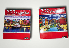 Lot Of 2 Colourful Houses And Boats, Burano Canal, Italy - Puzzle - 300 ... - $10.40