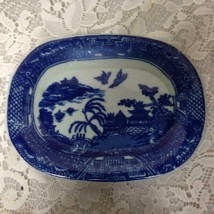 Beautiful, Blue Willow, Small Rectangular Plate 7.5in x 5.5in - $18.95