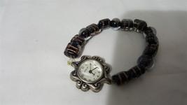 Vintage Geneva Elastic Bead Band Ladies Watch Working! - $6.76