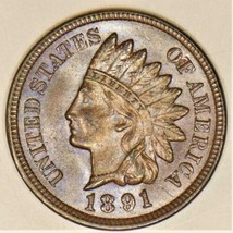 1891 Indian Head Cent; Choice Unc. - $98.99