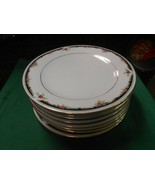 "Beautiful LYNNS Fine China ""Bennington"" Set of 8 DINNER Plates - $47.11"