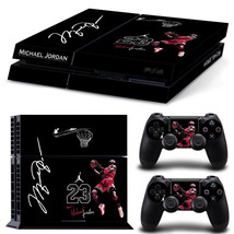 Sony PS4 Air Jordan 23 1st Console 2 Controllers Decal Vinyl Cover Skin Sticker - $15.81