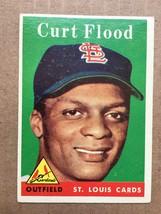 1958 Topps #464 Curt Flood RC Baseball Card ST. Louis Cardinals VG/VG+ R... - $19.99