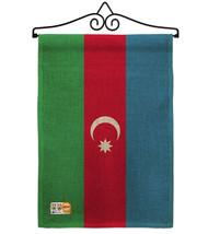 Azerbaijan Burlap - Impressions Decorative Metal Wall Hanger Garden Flag... - $33.97