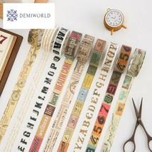 1.5cm Wide Creative Vintage Decorative Washi Tape DIY Scrapbooking Maski... - $2.65