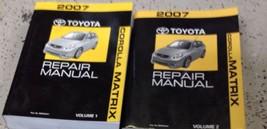 2007 Toyota Corolla Matrix Service Repair Workshop Shop Manual Set New - $435.55
