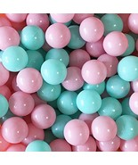 Thense Pit Balls Crush Proof Plastic Children's Toy (100|Macaron-green&p... - $21.84