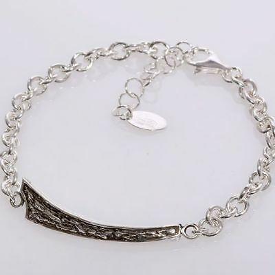 Silver Bracelet 925 Rhodium Men's By Maria Ielpo Made IN Italy