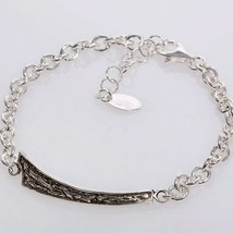 Silver Bracelet 925 Rhodium Men's By Maria Ielpo Made IN Italy image 1