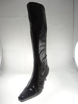 Etienne Aigner Pointed Toe High Heeled Brown Faux Leather Boots Dark Brown Sz 7 - $28.93