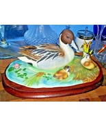 Andrea By Sadek Pintail Family RARE Hand Made And Hand Painted - $69.29