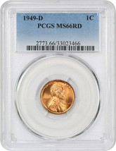 1949-D 1c PCGS MS66 RD - Lincoln Cent - $82.45