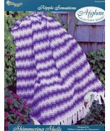 Shimmering Shells Ripple Afghan TNS Crochet Pattern NEW - $2.40