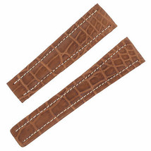Breitling 550P 22-18mm Genuine Alligator Leather Brown Unisex Watch Band - $299.00