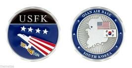 "OSAN AIR BASE SOUTH KOREA  AIR FORCE USFK MILITARY 1.75"" CHALLENGE COIN - $16.24"