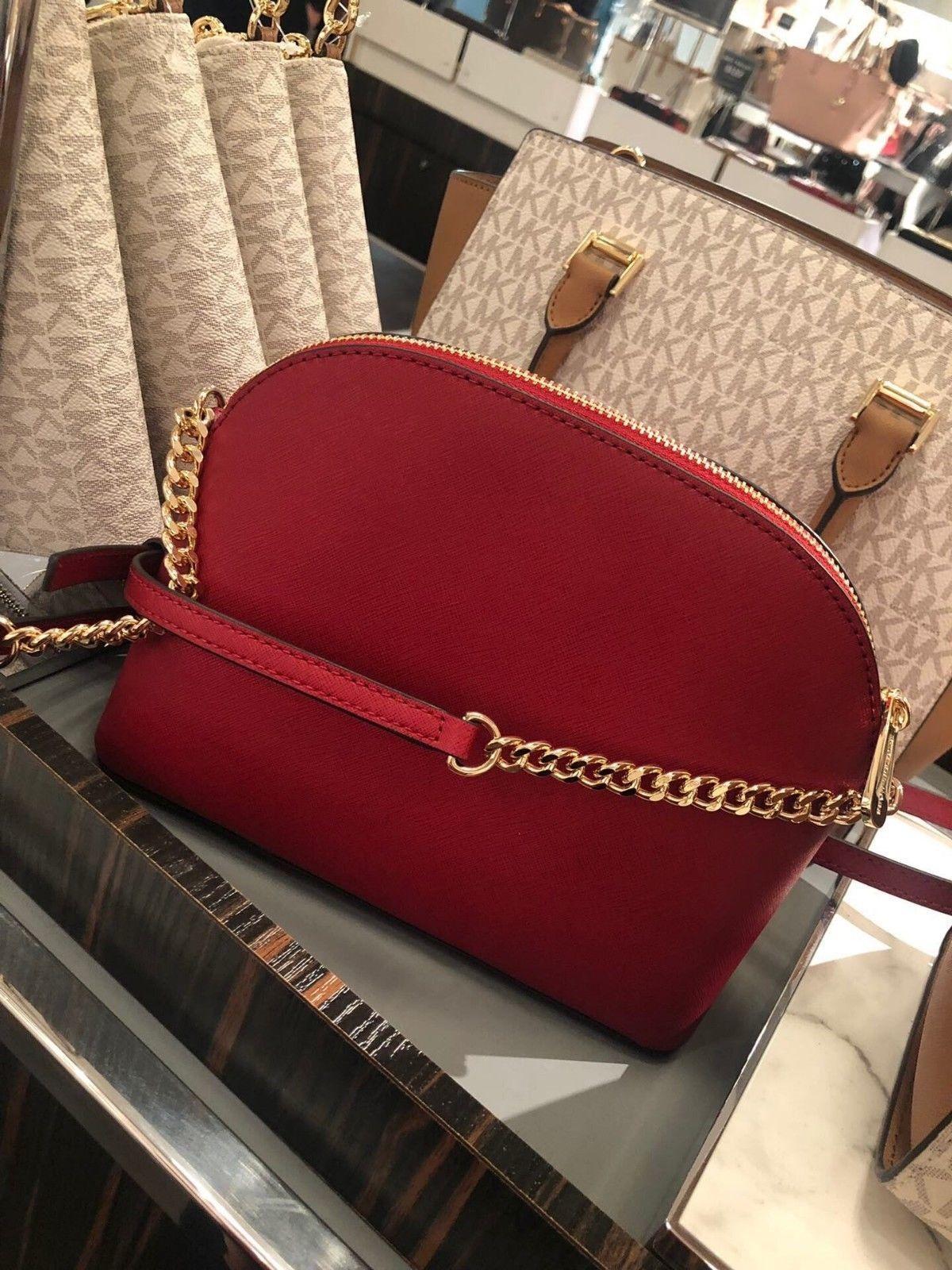 d63913f2b7fb NWT Michael Kors Emmy Medium Crossbody Shoulder Bag Messenger Mulberry