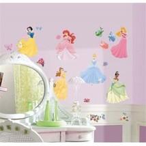 Walt Disney Princesses Peel & Stick Wall Decals Appliques and Gems, NEW ... - $15.47