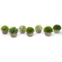 Artificial Plastic Potted Plant Mini Topiary Plants Desk Office Home Decor  - $6.68+