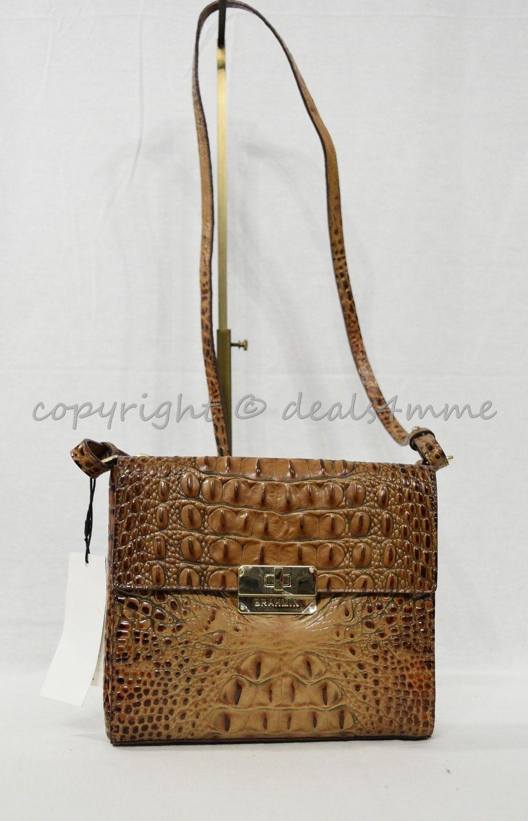 NWT Brahmin Manhattan Leather Shoulder/Crossbody Bag in Toasted Almond Melbourne image 2