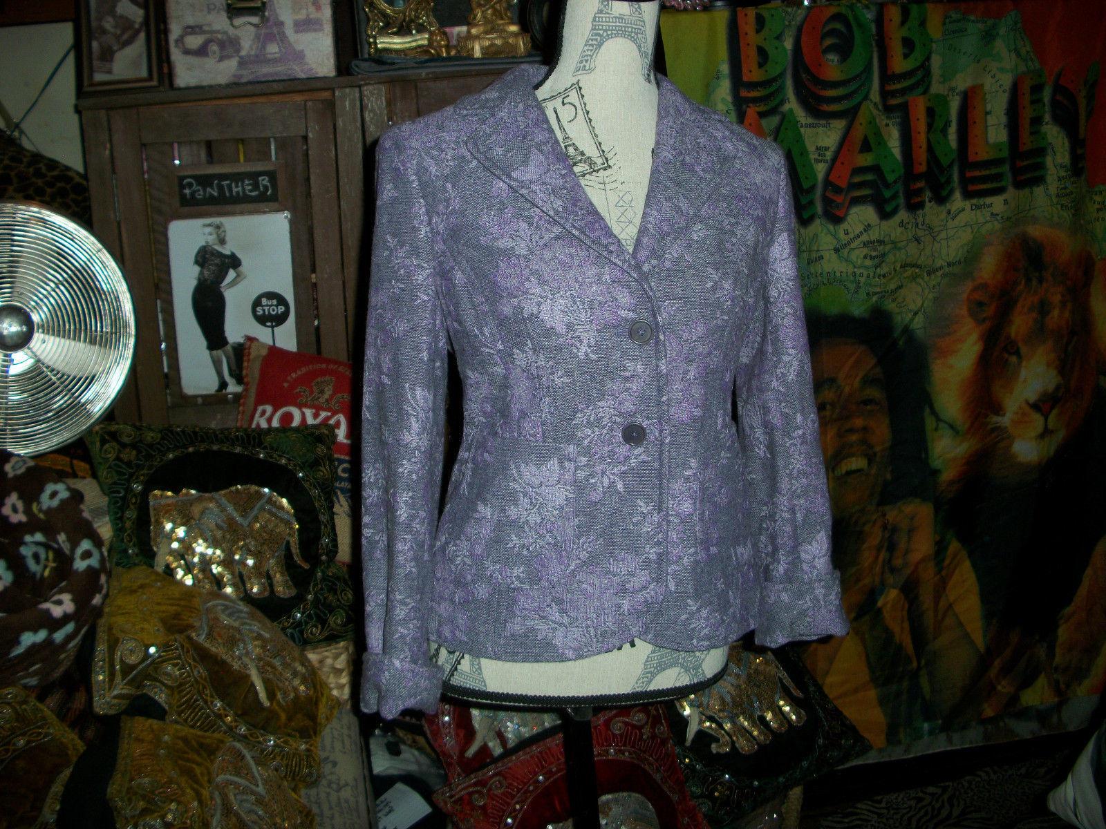 ANN TAYLOR Pretty Purple Embroidered Blazer Size 4 - $14.85