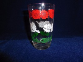 """Red & White Daisies with Green Leaves  3.75"""" unmarked Swanky Swig - $4.90"""