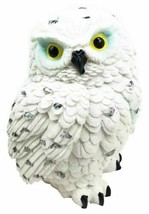 "Arctic Tundra White Snow Owl Chick Cute Figurine 6""H Collectible Sculpture - $16.99"