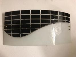 Original Black White Midcentury Murano Glass Sconces, Large Geometric Wa... - $1,800.00