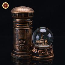 """WR Valentine Crafts 6"""" Mailbox Lighted Water Globe Glitter Snow Room Des... - $21.16"""