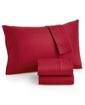 MASON COLLECTION KING SHEET SET 800 TC THREAD COUNT FINE LINENS ~ Red - $39.15