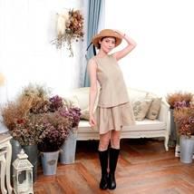 (Woman) Elegant sleeveless dress (brown) - $45.00