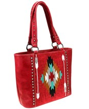 Montana West Concealed Carry Aztec Tote + Wallet - Red - $94.50