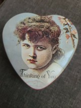 """Heart Shaped Tin Enesco Collector's  """"One Step Beyond"""" c1980 - $4.99"""