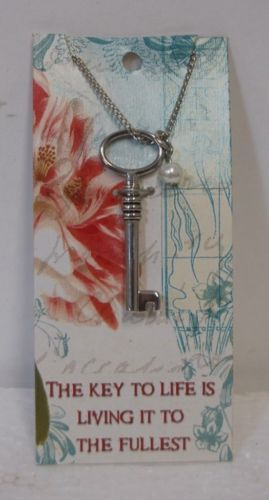 Grasslands Road Ambiance Key Necklace 10 Inches Long  Life Living Fullest