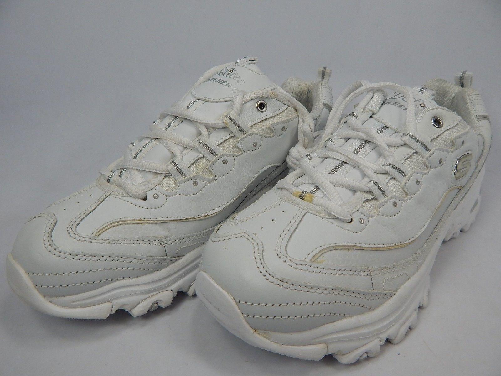 Skechers D'Lites Size US 8.5 M (B) EU: 38.5 Women's Athletic Shoes White