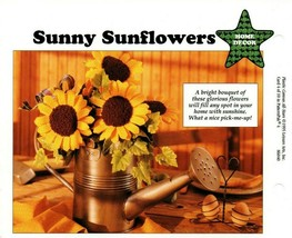 Plastic Canvas Patterns - New World Globe & Sunny Sunflowers - Home Decor - $1.97