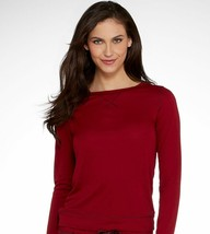 Calvin Klein Liquid Lounge Long-sleeve Knit in Red, Cranberry, size XS - $12.86