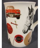 Christopher Vine Bone China Coffee Cup Mug Australia 10oz Horse Car Casino  - $17.95